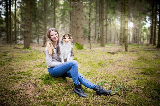 Hundefotoshooting im Wald