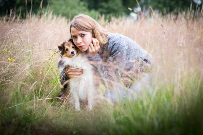 Selbstauslöser Foto mit Hund