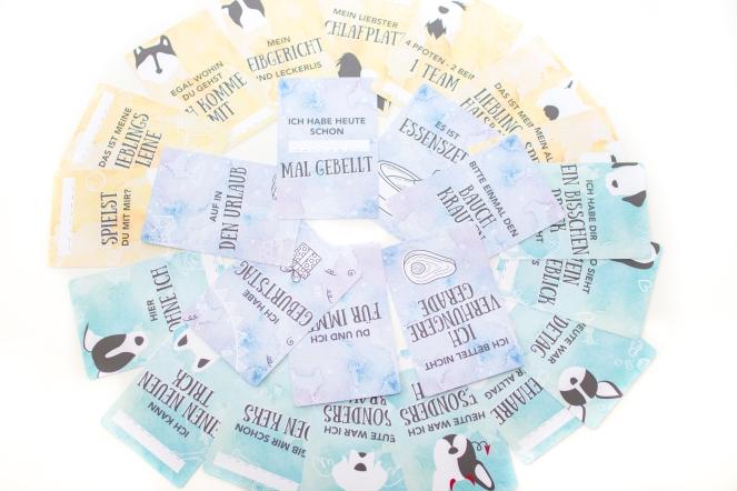 Meilensteinkarten für Hunde